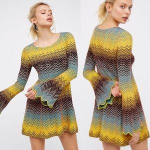 Free People Bella Sweater Mini Dress Size L